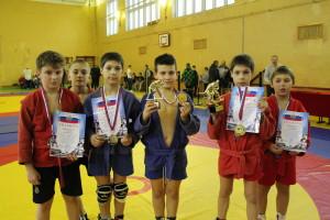 Сафоновские чемпионы и призеры турнира по самбо